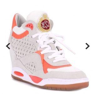 Ash BLING TER white wedge sneakers sz 38